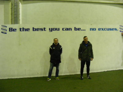 """""""Be the best you can be … no excuses"""""""