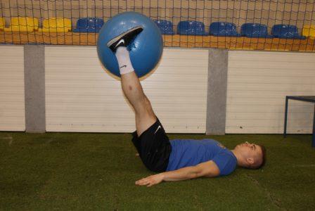 stabilizacja z piłką fitness