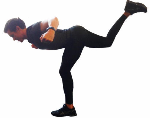 touch and raise - poprawa balansu zawodnika na jednej nodze